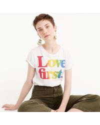 "J.Crew - Women's X Human Rights Campaign ""love First"" T-shirt - Lyst"