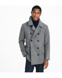 J.Crew - Dock Peacoat With Thinsulate - Lyst