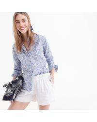 J.Crew - Linen Short With Side Ties - Lyst