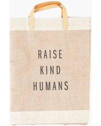 Apolis - Raise Kind Humans Market Bag - Lyst