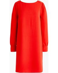J.Crew - Long-sleeve Shift Dress In Everyday Crepe - Lyst
