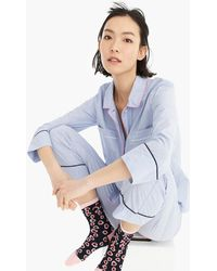 a0ced9287e82e J.Crew - Vintage Long-sleeve Pyjama Shirt With Contrast Tipping - Lyst