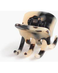 J.Crew - Modern Hair Clip In Italian Tortoise - Lyst