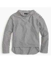 J.Crew - Petite Funnelneck Striped Shirt - Lyst
