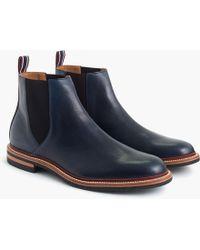 J.Crew - Oar Stripe Chelsea Boots In Italian Leather - Lyst