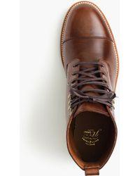 J.Crew - Kenton Leather Cap-toe Boots - Lyst