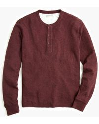 J.Crew - Tall Double-knit Henley - Lyst