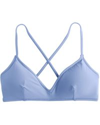 J.Crew - French Cross-back Bikini Top - Lyst