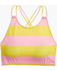J.Crew - Playa Printed Hermosa High-neck Bikini Top - Lyst