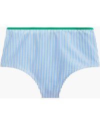 5abeacaf6af Seamless High-waisted Bikini Bottom In Tipped Seersucker
