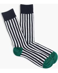 J.Crew - White Striped Socks - Lyst