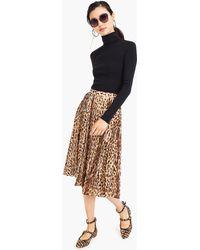 271a50ad13 J.Crew Petite Tiered Midi Skirt In Cotton Poplin - Lyst