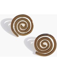 Modern Weaving - Petite Coil Stud Earrings - Lyst