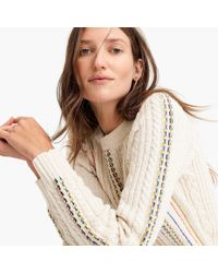 J.Crew - The Reeds X Rainbow Cable Knit Jumper - Lyst