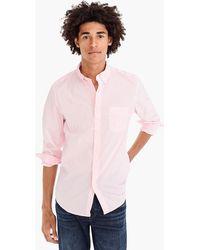 J.Crew - Stretch Secret Wash Shirt In Speckled Pink - Lyst