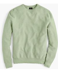 J.Crew - Cotton Crewneck Jumper In Garter Stitch - Lyst