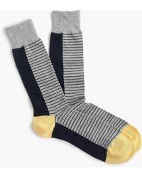 J.Crew - Grey Striped Socks - Lyst