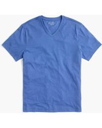 J.Crew - Tall Essential V-neck T-shirt In Heathered Cotton - Lyst