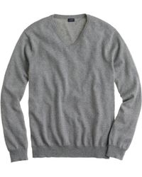 J.Crew - Slim Cotton-cashmere V-neck Jumper - Lyst