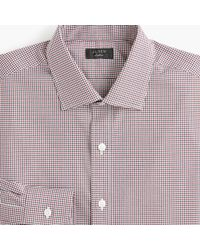 J.Crew - Ludlow Stretch Two-ply Easy-care Cotton Dress Shirt In Blue Tattersall - Lyst
