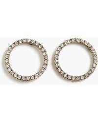 J.Crew - Pavé Circle Earrings - Lyst