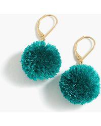 J.Crew - Pom-pom Earrings - Lyst