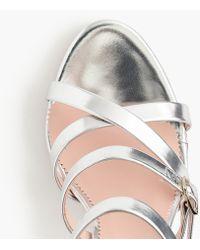 20b5e9c0e23d J.Crew - Buckled High-heel Sandals In Mirror Metallic - Lyst