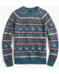 J.Crew - Lambswool Crewneck Jumper In Fair Isle - Lyst