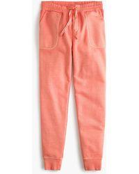 J.Crew - Garment Dyed Cotton Joggers - Lyst