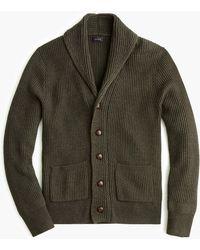 J.Crew - Rugged Merino Wool Shawl-collar Cardigan Sweater - Lyst