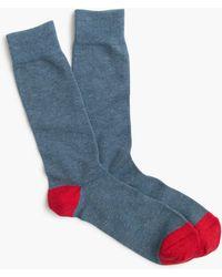 J.Crew - Solid Cotton Socks - Lyst