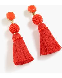 J.Crew - Bead And Tassel Earrings - Lyst