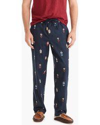 J.Crew - Flannel Pyjama Pant In Nutcracker Critter - Lyst