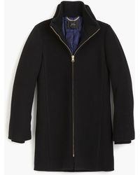 J.Crew Tall Lodge Coat In Italian Stadium-cloth Wool - Black