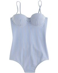 J.Crew - Dd-cup Seersucker Underwire One-piece Swimsuit - Lyst