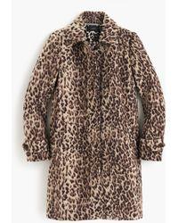 J.Crew - Petite Topcoat In Double Leopard - Lyst
