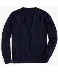 J.Crew - Cotton Solid V-neck Jumper - Lyst
