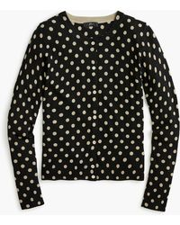 J.Crew - Wool Jackie Cardigan Sweater In Polka Dots - Lyst