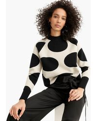 J.Crew - Collection Jacquard Dot Sweater - Lyst