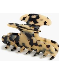 J.Crew - Large Hair Clip In Italian Tortoise - Lyst