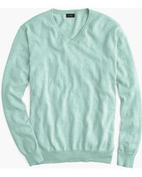 J.Crew - Cotton-cashmere V-neck Jumper - Lyst