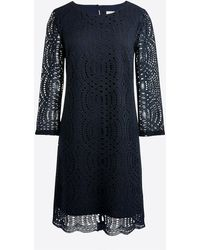 J.Crew - Three-quarter Sleeve Lace Shift Dress - Lyst