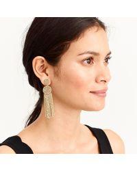 J.Crew - Beaded Circle Tassel Earrings - Lyst