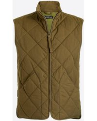 J.Crew - Waxed Quilted Walker Vest. - Lyst