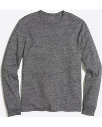 J.Crew - Long-sleeve Textured Cotton T-shirt - Lyst
