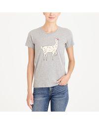 J.Crew - Llama Collector T-shirt - Lyst