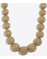 J.Crew - Beaded Orb Statement Necklace - Lyst