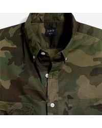 J.Crew - Slim-fit Flex Washed Shirt In Camo Print - Lyst