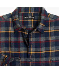 J.Crew - Slim-fit Heather Flannel Shirt In Plaid - Lyst