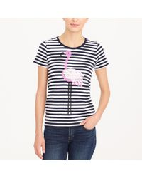 J.Crew - Flamingo Striped Collector T-shirt - Lyst